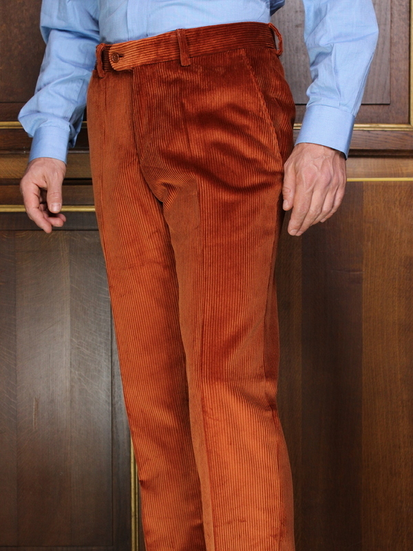 Pantalon Velours lourd orange rouille PV75SP