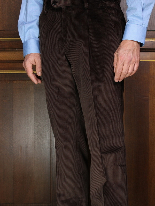 Pantalon à pinces lourd  Marron PV71