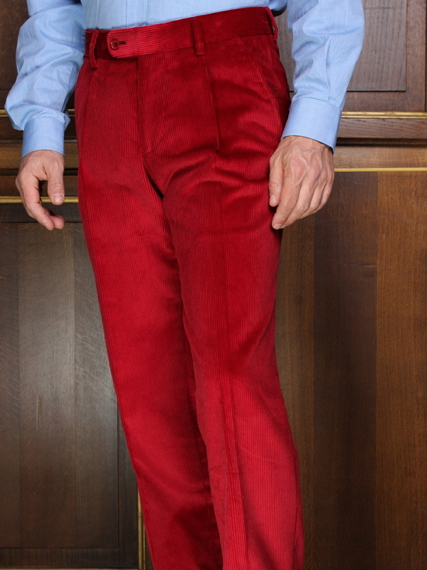 Pantalon à pinces Velours Rouge PV101